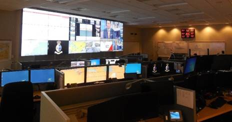 Inside a marine security operations centre.