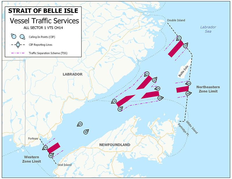 Vessel Traffic Services - Strait of Belle Isle