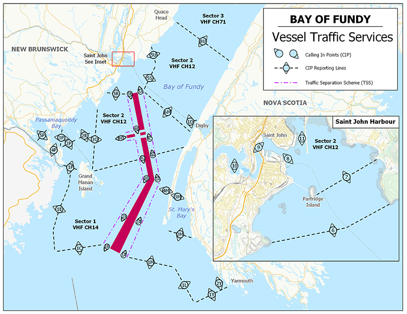 Vessel Traffic Services - Bay of Fundy